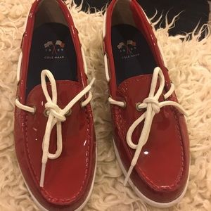 Cole Haan patent leather sperrys